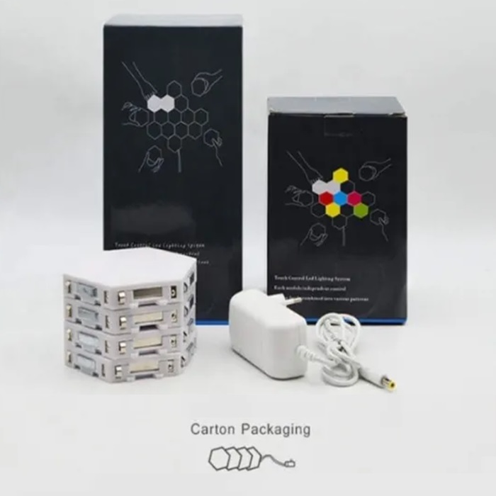Induction Lighting Hexagonal Module Assembly Quantum Light LED Wall Light Touch Sensitive