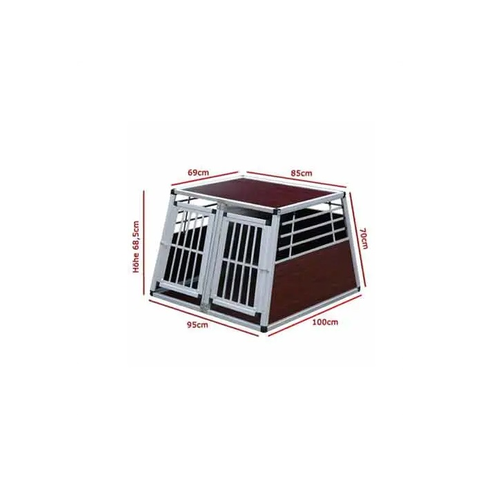 Aluminum Pet Cage Comfortable Dog Crate Hunde Box Dog Kennel