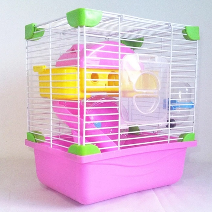 Two Choices Castle Shape Double Floor Luxury Hamster Cage Provided with All The Needs for Hamster