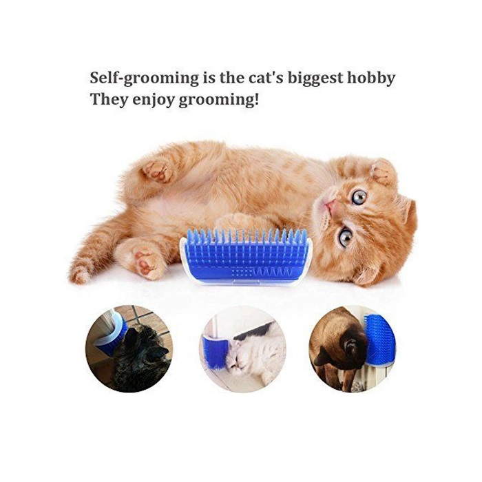 Cat Self Groomer Tool Massage Brush Scratcher Rubber Comb Soft Pet Brusht Amazon Wall Corner Cat Brush for Cat