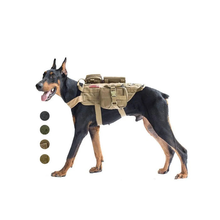 Outdoor Cool Pet Clothing Working Dog Clothes Hunting Dog Vest Suit for Large Dog