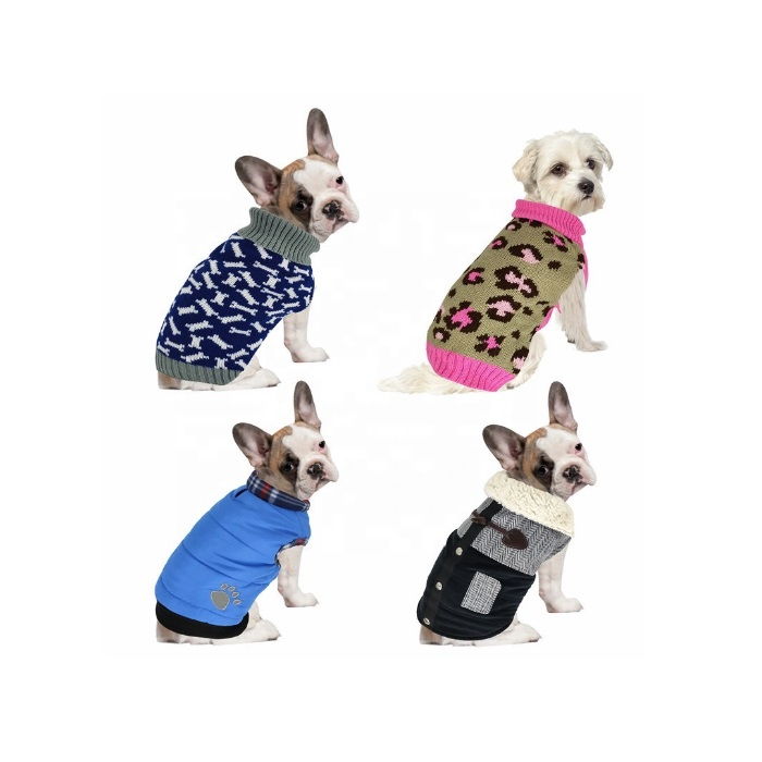 Luxury 100% Cotton Winter Warm Dog Clothes Sublimated Pet Apparel Dog Clothing