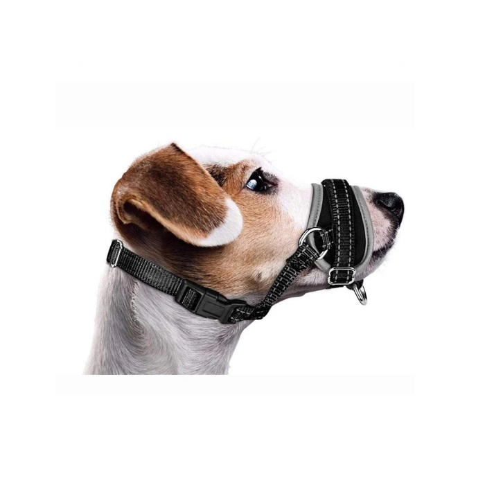 Nylon Dog Muzzle Mouth Cover Adjustable Soft Padded Quick Fit Comfortable Anti Biting Training Pet Muzzle